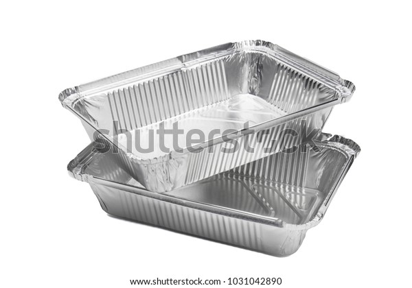 Various Shape Foil Food Aluminum Box Stock Photo (Edit Now
