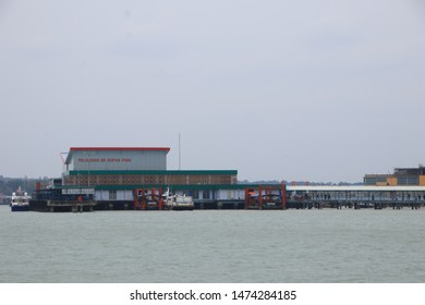 Various ship activities at the Port of Sri Bintan Pura in the city of Tanjung Pinang namely on the west coast of the island of Bintan, Riau Islands province of Indonesia, August 6, 2019