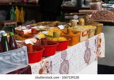 Various spices in the market. Batumi.Georgia
