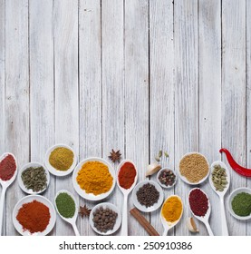Various spices selection.