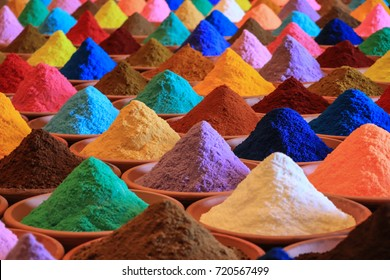 Various spices selection.  multicolored powder dyes