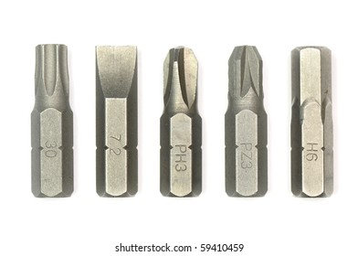 Various style of screw driver 's spares.