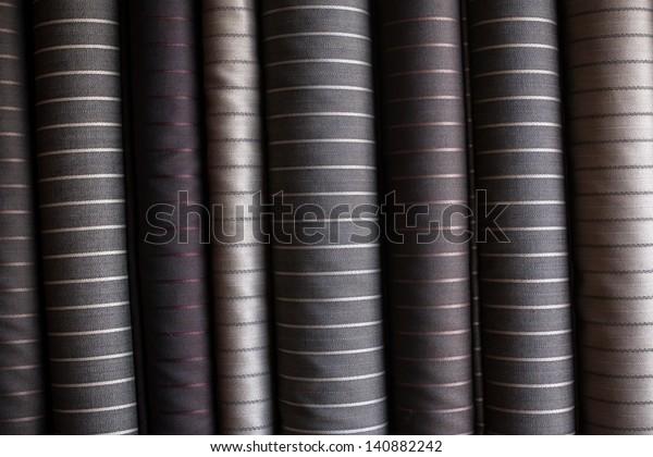 Various suit fabrics close-up