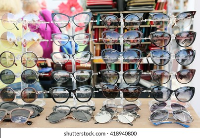 Various sunglasses in stores