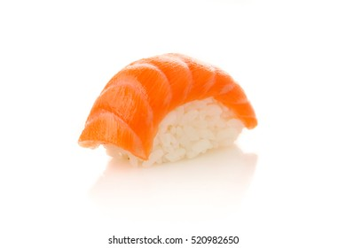 various sushi isolated on white background
