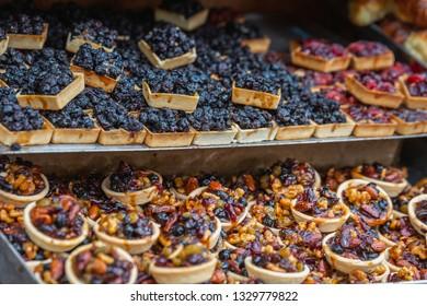 Various sweets on the Mahane Yehuda Market in Jerusalem.