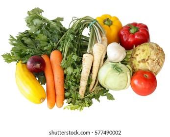 various tasty vegetable