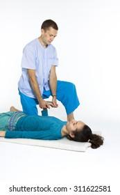 Various techniques of Thai massage / massage parlor