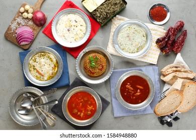 Various Turkish Food Table Image