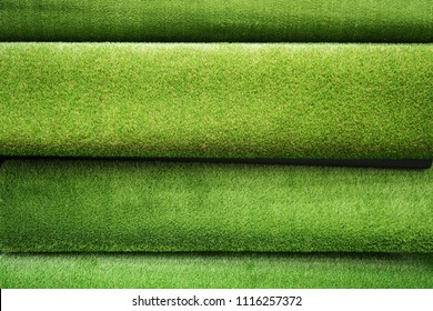 Various type of Artificial grass for background