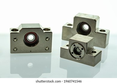 Various type and size fix and move end ball screw seat linear bearing support mount for industrial on reflex white table