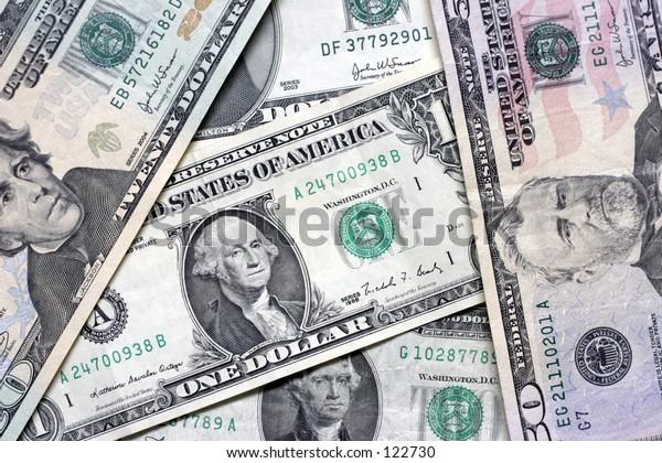 various us dollar bills