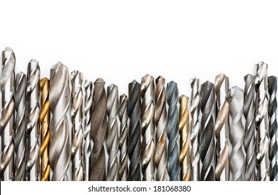 Drill bit images stock photos vectors shutterstock various used twist drill bits in a row keyboard keysfo Image collections