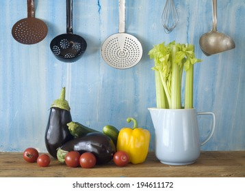various vegetable in the kitchen, cooking concept