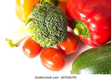 Various vegetables on bright background