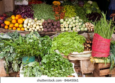 various vegetables in vegetable shop, sri lanka