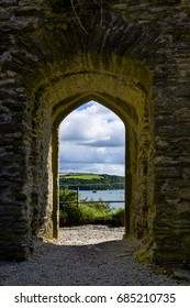 Various views of St Catherine's Castle in Readymoney near Fowey, UK