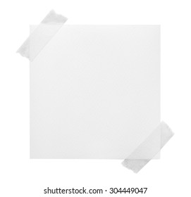various vintage note papers on white background.