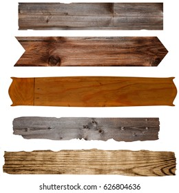 Various wooden boards old boards as background