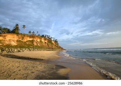 Varkala beach in the state Kerala in India