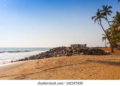 Varkala beach view. Kerala. India.