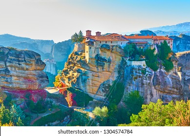 The Varlaam monastery on the top of the rock in Meteora, Kalampaka, Greece