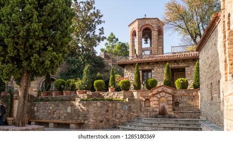 Varlaam monastery yard at Meteora rock monasteries in Greece