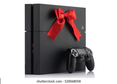 VARNA, Bulgaria - 18 November, 2016: Sony PlayStation 4 game console is a home video game console developed by Sony Interactive Entertainment.