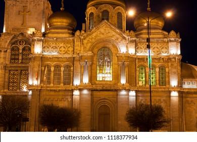 VARNA, BULGARIA - APRIL 11, 2015:Orthodox cahtedral of Assumption of the Virgin Mary, Varna, Bulgaria