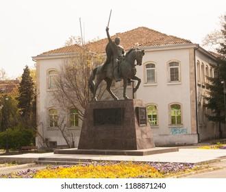 VARNA, BULGARIA - APRIL 29, 2017: Monument to king Kaloyan Varna Bulgaria