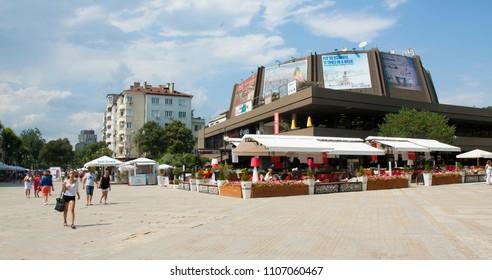 VARNA, BULGARIA - AUGUST 14, 2015: Festival congress centre