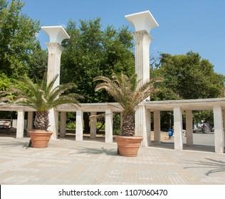 VARNA, BULGARIA - AUGUST 14, 2015: Entrance to City park