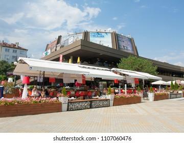 VARNA, BULGARIA - AUGUST 14, 2015: Festival-congress centre.