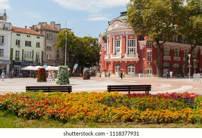 VARNA, BULGARIA - AUGUST 14, 2015: Opera theatre, works from 1947 year