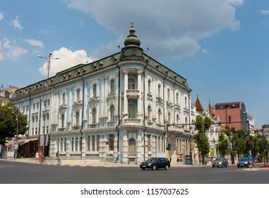 VARNA, BULGARIA - AUGUST 14, 2015: Main city square of Saints Kirill and Mefodiy.