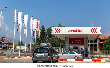 VARNA, BULGARIA: July 28, 2016: Gas station control unit. Fueling car at the gas station.