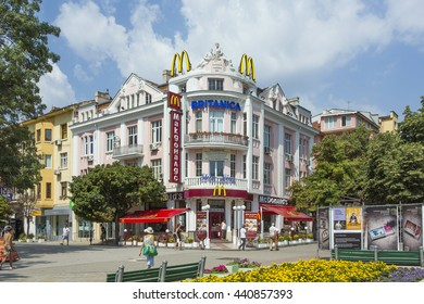 VARNA, BULGARIA - JULY 7, 2012: The downtown of Varna, Bulgaria. Varna is the largest city and seaside resort on the Bulgarian Black Sea Coast and the third largest city in Bulgaria