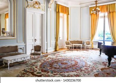VARNA, BULGARIA - JUNE 06, 2019: Interior of the Palace Euxinograd. Black Sea coast, Varna, Bulgaria