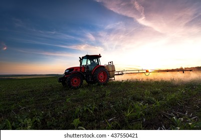 Varna, Bulgaria - June 10, 2016: Kubota tractor in field. Kubota Corporation is a Japanese heavy equipment manufacturer with an array of products such as tractors and agricultural equipment.