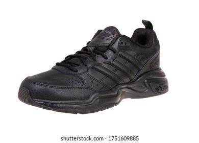 Varna , Bulgaria - MARCH 3, 2020 : ADIDAS STRUTTER MEN sport shoe, isolated. Product shot. Adidas is a German corporation that designs and manufactures sports shoes, clothing and accessories