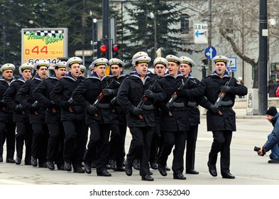 VARNA, BULGARIA - MARCH 3: Officials, military personal and common people take part in the Liberation Day celebrations on March 3, 2011 in Varna, Bulgaria.