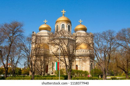 VARNA, BULGARIA - MAY 02, 2017: Orthodox cathedral of Assumption of the Virgin Mary
