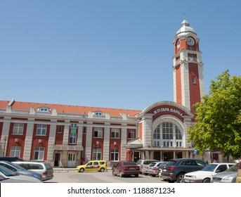 VARNA, BULGARIA - MAY 02 2017 Railway station