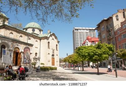 VARNA, BULGARIA - MAY 02, 2017 St Nicolas orthodox church