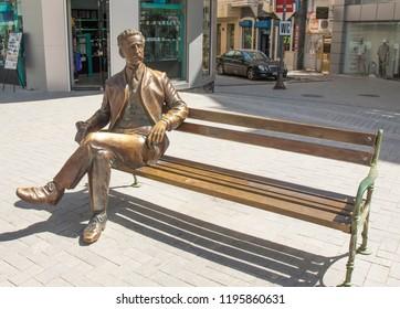 VARNA, BULGARIA - MAY 02, 2017: Monument to city citizen,