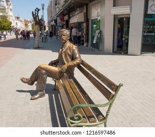 VARNA, BULGARIA - MAY 02, 2017: Monument to city citizen resting