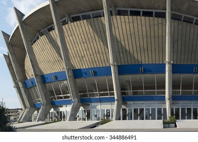 Varna, Bulgaria - November 12, 2015: Palace of Culture and Sports is an indoor complex for culture and sport located in Varna, Bulgaria. The complex has three sports halls. It was completed in 1968.