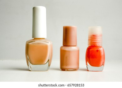 Varnish for nails different color and shape. Photo for your design