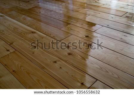Varnished Wooden Floor Stock Photo Edit Now 1056558632 Shutterstock