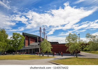 The Vasa Museum (Vasamuseet), Stockholm, Sweden - 22 Jun 2018: It is the most visited museum in Scandinavia.